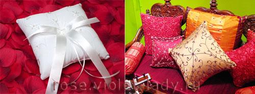 Подушки из лепестков роз – лучший подарок на День Влюбленных