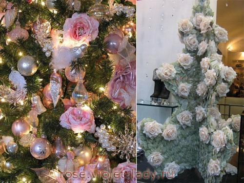 Елка из роз
