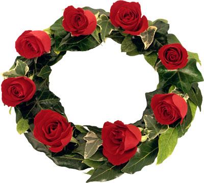 Декоративные венки - осенние композиции из роз