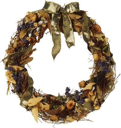 Декоративные венки - осенние композиции из ароматных трав