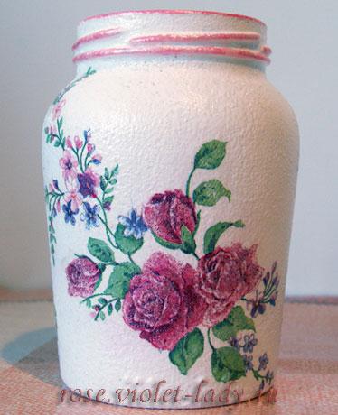 Мастер класс: декупаж ваза с розами
